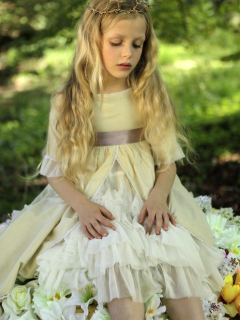 Dusty Mauve Flowergirl Dress UK and Ireland