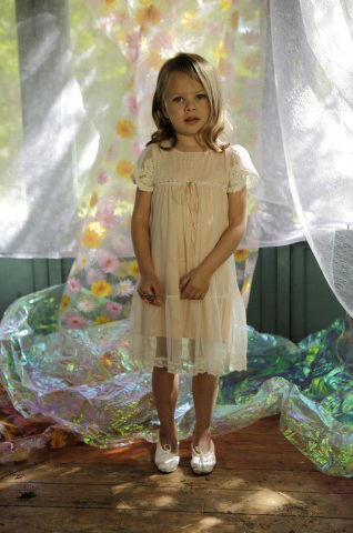 Peach Wood Nymph Flowegirl Dress in UK and Ireland