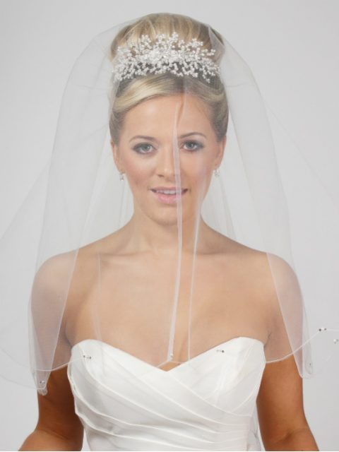 Pearl Diamante Wedding Veil