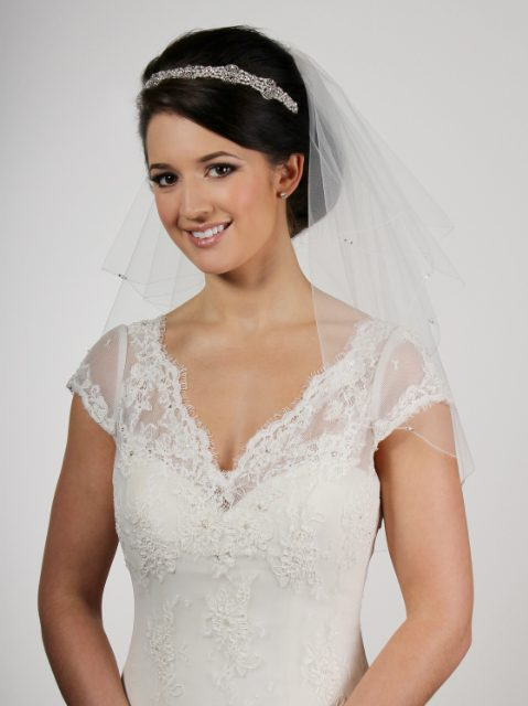 Pearl and Diamante Bridal Veil