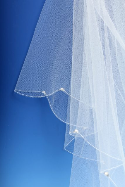 Pearl and Diamante Wedding Veil