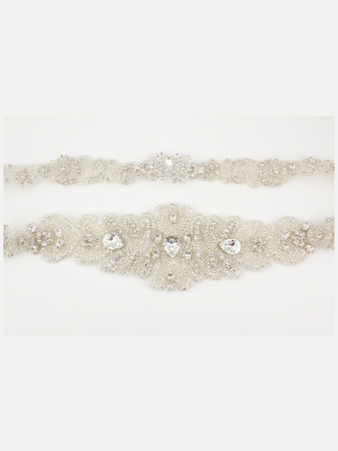Reversible Beaded Bridal Belt