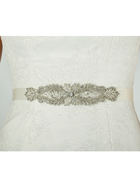 Silver and Pearl Wedding Gown Belt