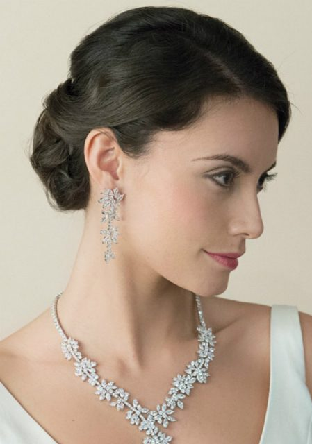 Star Design Bridal Earrings