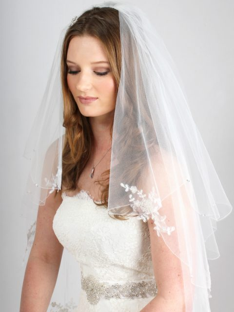 Beaded Lace Wedding Veil