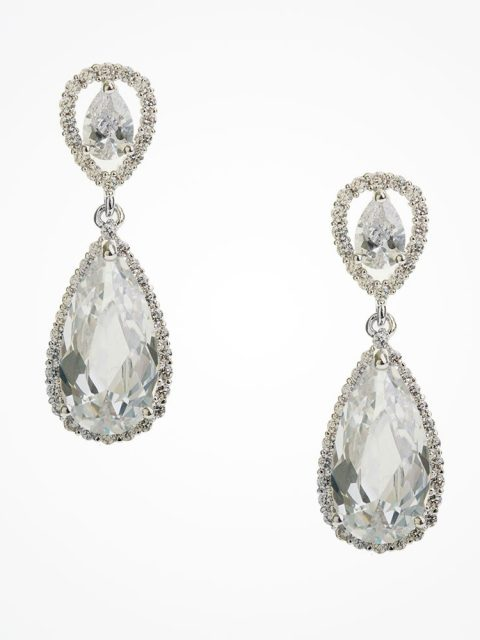 Teardrop Bridal Earrings